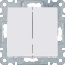 WL0040 - lumina 2 Comutador de lustre, branco HAGER EAN:8694407000217