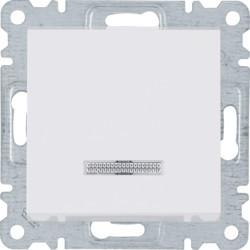 WL0410 - lumina 2 Botão simples c/sinaliz, branco HAGER EAN:8694407000903