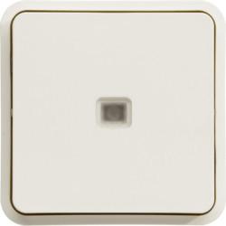 WNA002B - cubyko - Comut. escada c/sinaliz, branco HAGER EAN:3250617175029