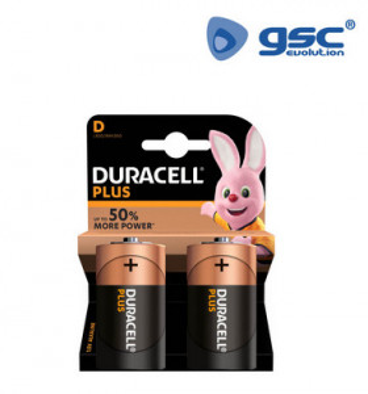 009000104 - Bateria alcalina DURACELL Plus LR20 (D), Blister 2 5000394019200