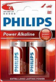 009000313 - 8433373050112 Pilha alcalina PHILIPS LR14 (C) Blister 2 Ud.