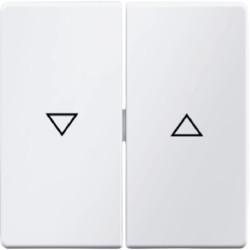 16256089 - Q.x - tecla dupla estores, branco BERKER EAN:4011334312642