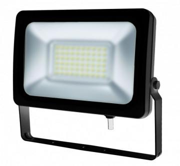 17535.3060 - Projector Exterior Slim 30W 230Vac 6000K 3000Lm alumínio Preto Vidro Prismático - Quant. fornecida = 1 un