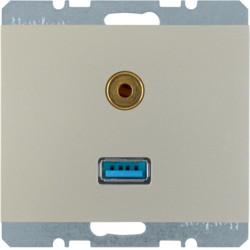 3315397004 - K.1/K.5 - USB / jack 3.5mm, inox lac BERKER EAN:4011334330219