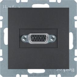 3315411606 - S.1/B.x - tomada VGA paraf., antrac mate BERKER EAN:4011334330394