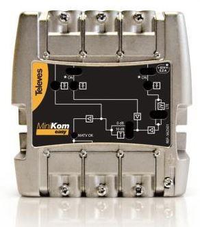 "562501 -8424450161296 TELEVES - Amplificador MiniKom MATV 3e/1s ""EasyF"": FM-VHF-UHF G 15-(22||32)-(30||40)dB Vs 113-114-117dBµV"