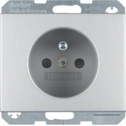 6765757003 - K.1/K.5 - tomada FR obturad., alumínio BERKER EAN:4011334378594