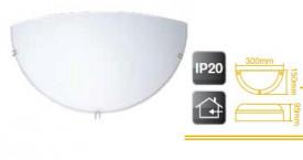 701995 - 8433373019959 Aplicar parede branca semicircular E27 20W (60W)