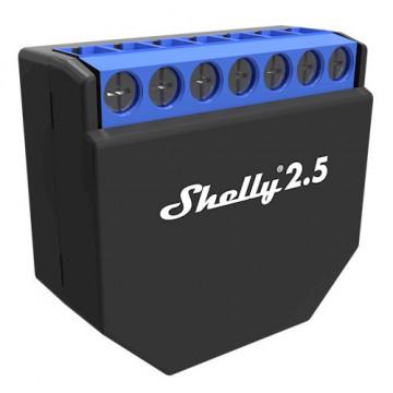 Shelly2.5 - Completamente reprojetado: 20% mais poderoso, 30% menor, alcanse 50% maior, 100% protegido, dois medidores de potência.