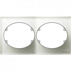 ABB 5572.1 CB Espelho duplo horizontal cristal branco Tacto