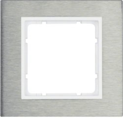 BERKER - 10113609 - B.7 - quadro x1, Inox/branco mate 23