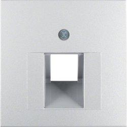 BERKER - 14071404 - S.1/B.x - espelho RJ45 simples, alum mt 23