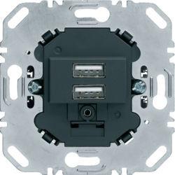 BERKER - 260205 - Tomada USB carreg. 3,0A, antracite 24