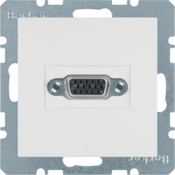 BERKER - 3315411909 - S.1/B.x - tomada VGA paraf., branco mate 23