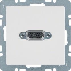 BERKER - 3315416089 - Q.x - tomada VGA paraf., branco 23