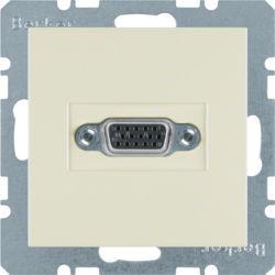 BERKER - 3315418982 - S.1/B.x - tomada VGA paraf., creme 23