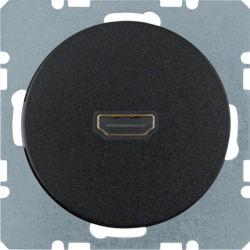 BERKER - 3315422045 - R.1/R.3 - tomada HDMI, preto 23