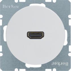BERKER - 3315432089 - R.1/R.3 - tomada HDMI ficha 90º, branco 23