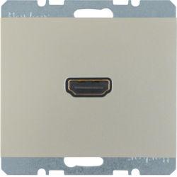 BERKER - 3315437004 - K.1/K.5 - tomada HDMI ficha 90º, inx lac 23