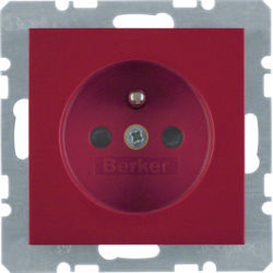 BERKER - 6765768962 - S.1/B.x - tomada FR obturad., encarnado 23