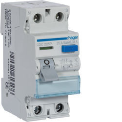 CDC225P - Inter. dif. 2P 25A 30 mA tipo AC 2 M HAGER