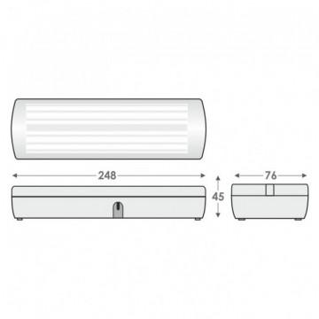 EMERGENCIA LED GR-8/9l Permanente/não-permanente/LEDs-30/65lm, 90 min. Olympia Electronics