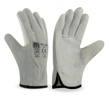 Equipamentos de Protecção - 5756 - Luva Mista Crute Pele Cinza 8