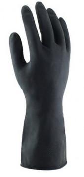 Equipamentos de Protecção - 5822 - Luva Fibra Algodão Revest.Látex Preto 33cm 10