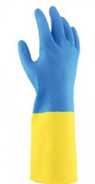 Equipamentos de Protecção - 5823 - Luva Látex/Neoprene Azul/Amarelo 30cm 7