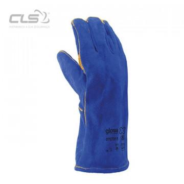 Equipamentos de Protecção - 7064 - Luva de Soldador crute azul kevlar forro 35cm