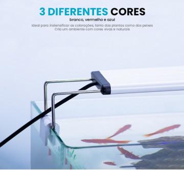 Iluminação LED para AQUÁRIOS 9W p/ aquário 52-60cm