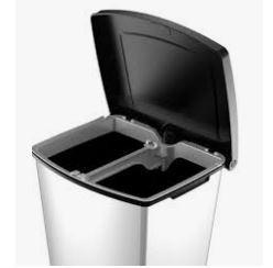 KETER CURVER 227328 Cubo reciclagem Essentials fecho pedal 40L com separador P(cm)37,4 A(cm)55 L(cm)33,1