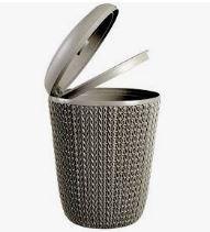 KETER CURVER 235192 Cesto Papeis baño Knit Castanho 7 L P(cm)22,4 A(cm)29,5 L(cm)22,4