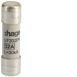 LF332PV - Fusível Fotovoltaico 10x38 600V DC 32A HAGER EAN:3250614061639