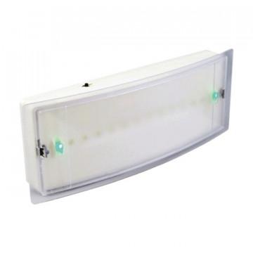 OMNIUM ELECTRIC - ALM21-RM-3W - Luminária de emergência IP21 3W LED, Permanente / Não permanente, 3hrs. 85-265V, 50-60Hz c/ telecomando