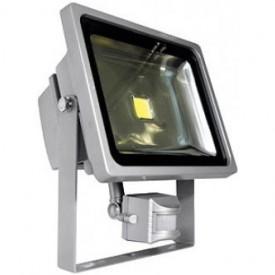 Projetor LED 4ª Geração MultiChip 30W Branco Frio com Detector Movimento