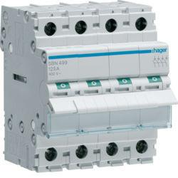 SBN499 - Interruptor Modular 4P 125A HAGER EAN:3250615510037