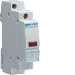 SVN122 - Sinalizador LED encarnado 230V AC HAGER EAN:3250615721624