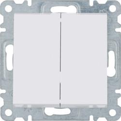 WL0050 - lumina 2 Comut. de escada duplo, branco HAGER EAN:8694407000231