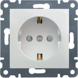 WL1060 - lumina 2 Tomada Schuko c/obtur., branco HAGER EAN:8694407001009