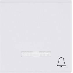 WL6110 - lumina 2 Tecla c/visor campainha, branco HAGER EAN:8694407000927