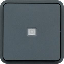 WNA003 - cubyko - Comut. escada c/aviso, cinzento HAGER EAN:3250617174039