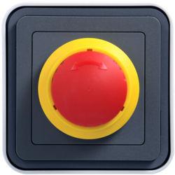 WNC033 - cubyko s - Interruptor emergência, cinz HAGER EAN:3250617170338