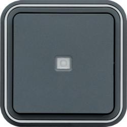 WNE023 - cubyko e - Bot.simples aviso/sinalz, cnz HAGER EAN:3250617172233