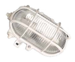 000700152 - 8436021941527 Aplique ovalado plástico, E27 60W 230V Branco