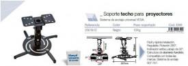 002501812 - 8433373018129 Suporte de teto para Projetores máximo 15KG