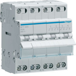01 - SFT440 - 3250615510945 Inversor Modular c/ponto zero, 4P 40A HAGER