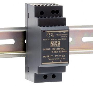 201211.130 - Fonte de Alimentação Calha DIN Mean Well 12Vdc 30W HDR - Quant. fornecida = 1 un