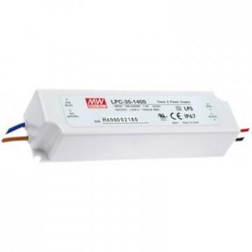 20286.415 - Drive CC Led Mean Well IP67 9-24Vdc 1400mA LPC-35 - Quant. fornecida = 1 un
