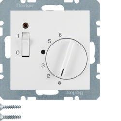 20318989 - S.1/B.x - termóst. 24V c/ ON/OFF, branco BERKER EAN:4011334309826